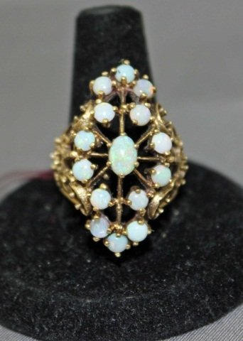 18: 14K Gold Opal Cocktail Ring