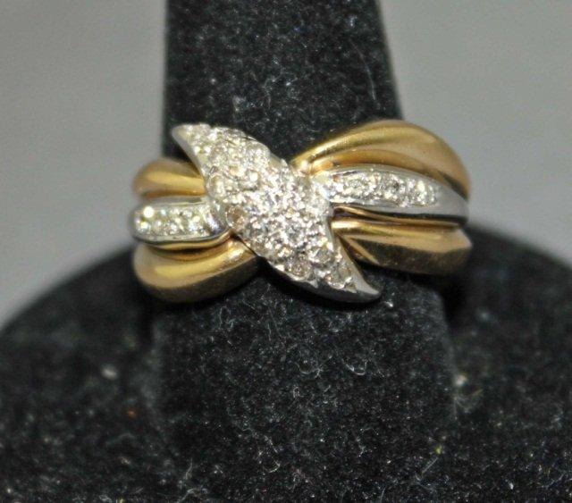 22: 14K Two-Tone Gold Diamond Ring