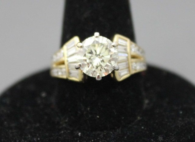 43: 14K Gold Diamond Engagement Ring