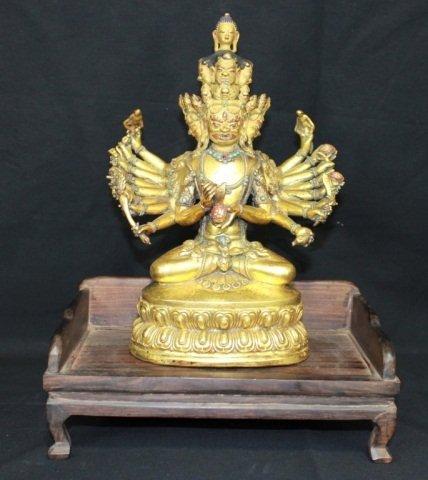 72: Tibetan Gilt Bronze Buddha