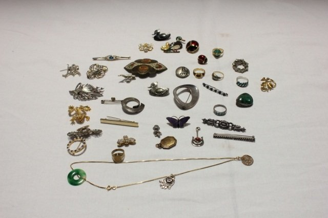 2: Miscellaneous Group of Silver Costume Jewelry