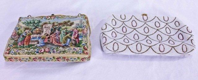 152: Beaded Handbag and Petitpoint Purse