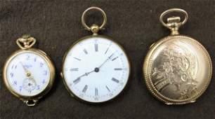 57 3 Ladies Pocket Watches