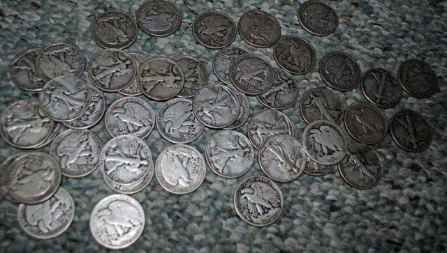 1: 45 Walking Liberty Silver Half Dollars
