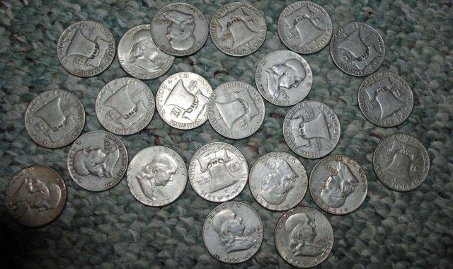 2: 22 Franklin Silver Half Dollars