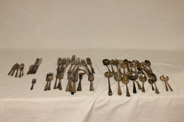 14: Collection of Silver Plated & Stainless Flatware