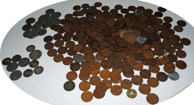 20: Asst. Pennies, Nickels, Barbers, & Silver Coins