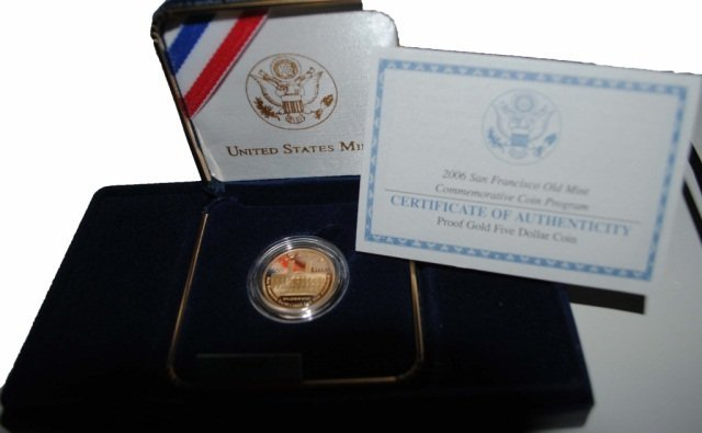 21: 2006 San Francisco Mint Proof $5 Gold Coin