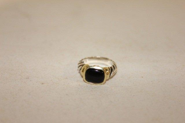 3: David Yurman 18K Yellow Gold and Sterling Ring