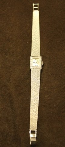 4: Longines 14K White Gold Watch with Diamonds