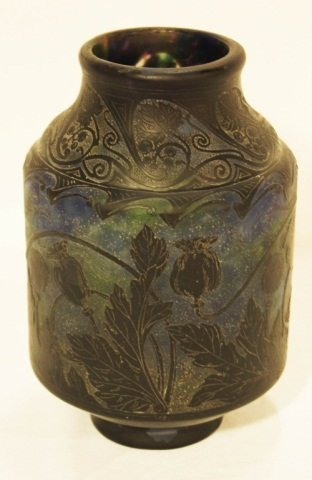 155: Daum Nancy Art Glass Vase (Signed)