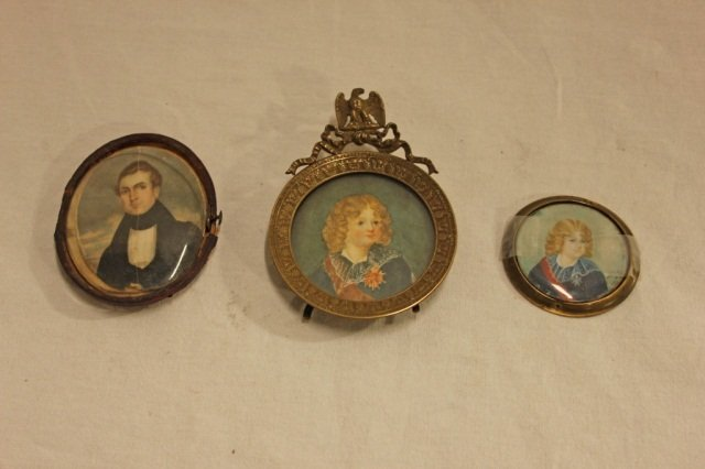 Group of 3 Ivory Miniatures