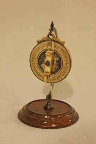 Antique Bone Compass on Stand