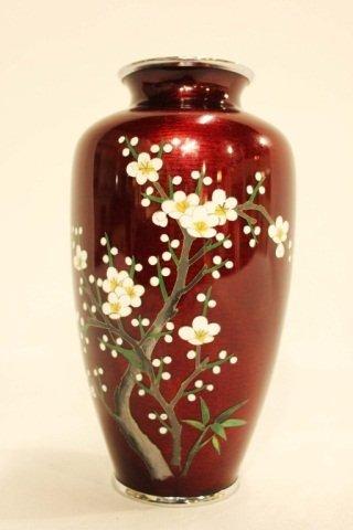 Red Cloisonne Vase