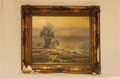 """Didier Pouget-Oil Painting-""""Vallee De La Correze"""""""