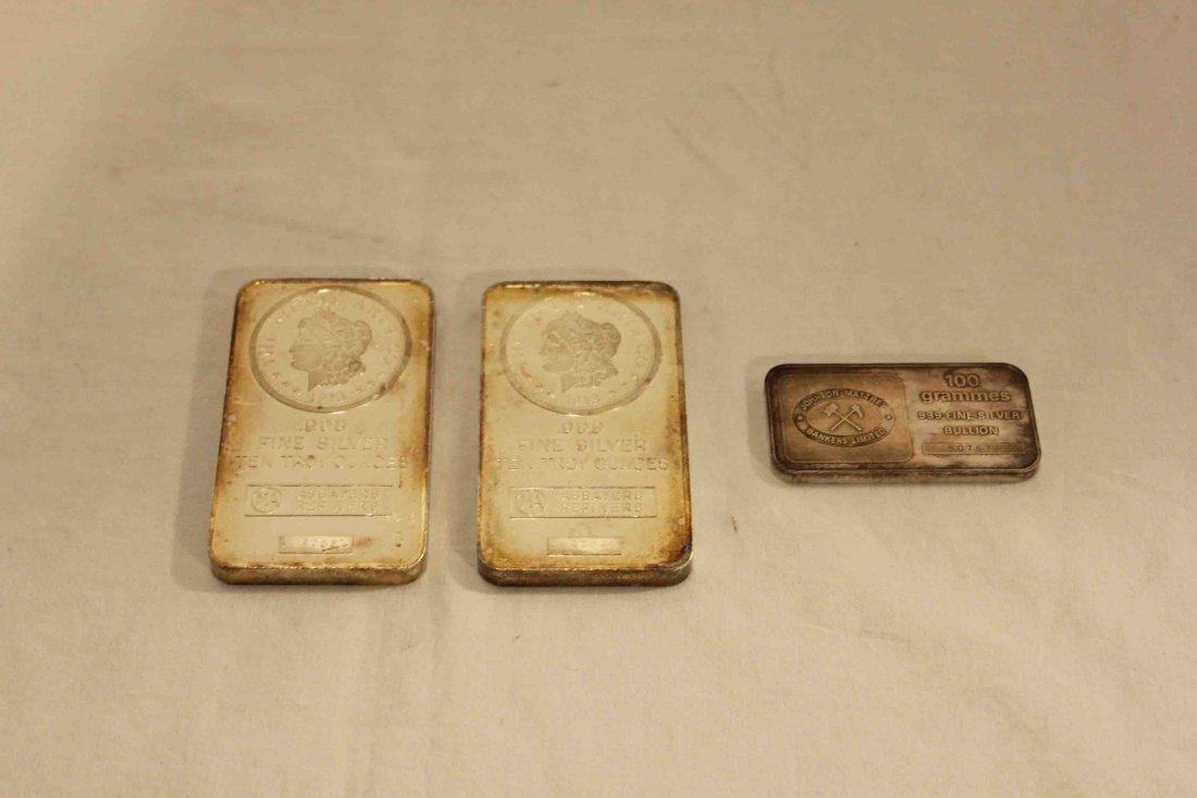 3 Silver Bars