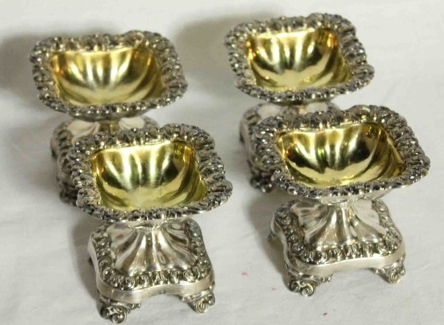 4 Continental Silver Open Dishes