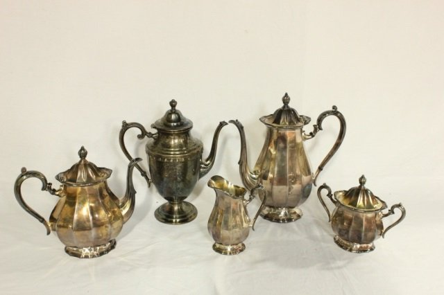 Group of 6 Silver Plated Articles