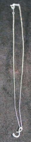 "Tiffany &. Co. Elsa Perretti initial ""S"" Pendant"