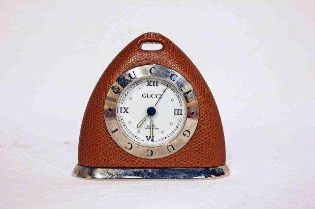 Gucci Leather Travel Alarm Clock