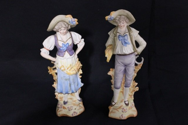 Pair of Derby Porcelain Figures