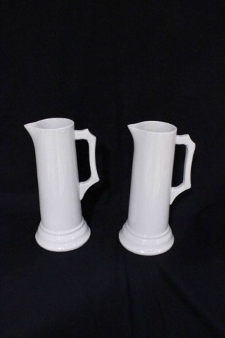 Pair of English White Ironstone Pitchers