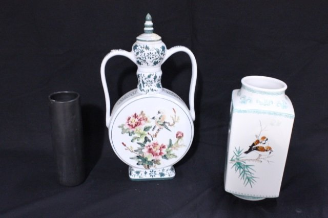 Group of 3 Decorated Vases