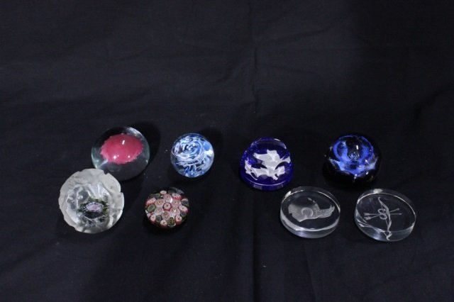 Group of 6 Crystal Paperweights