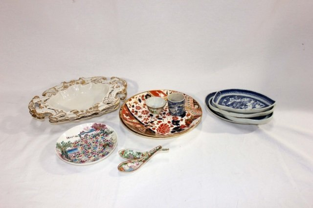 Group of Assorted Porcelains (Mostly Asian & Pair RPM)