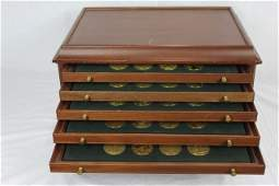 "Franklin Mint ""100 Greatest Masterpieces"" Coin Set"