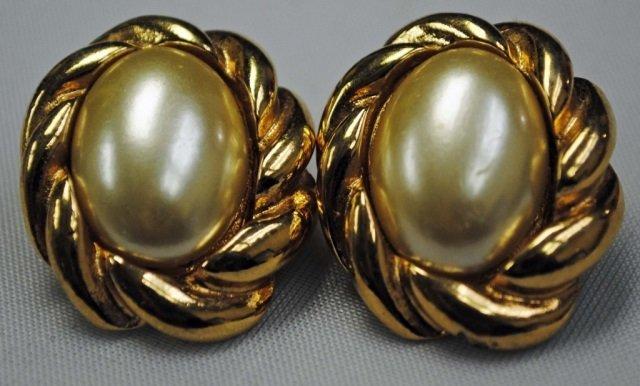 Pair of Kenneth J. Lane Costume Earrings