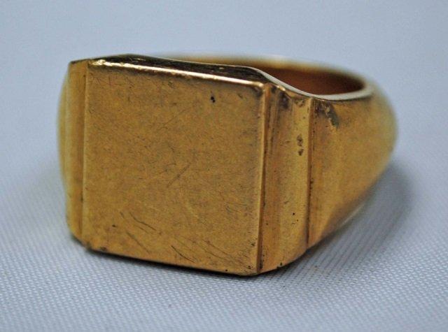 Large Men's 14K Gold Ring