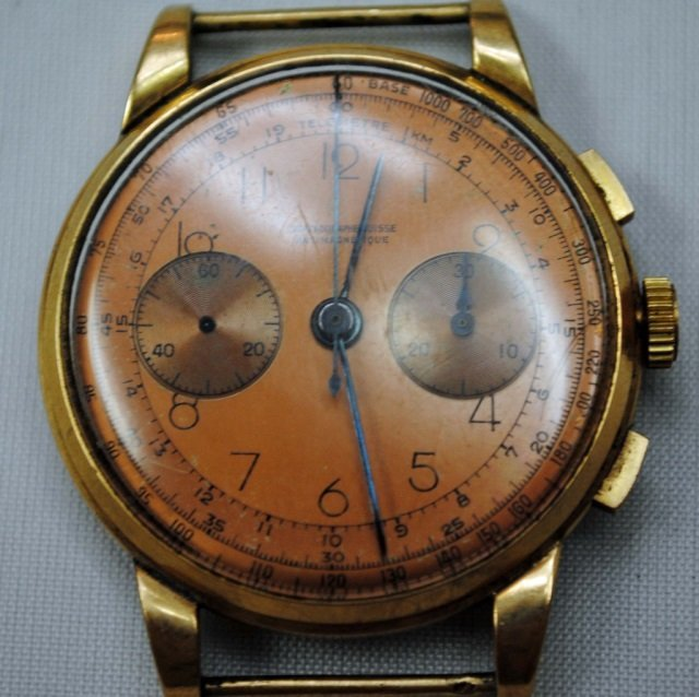 French 18K Gold Men's Watch