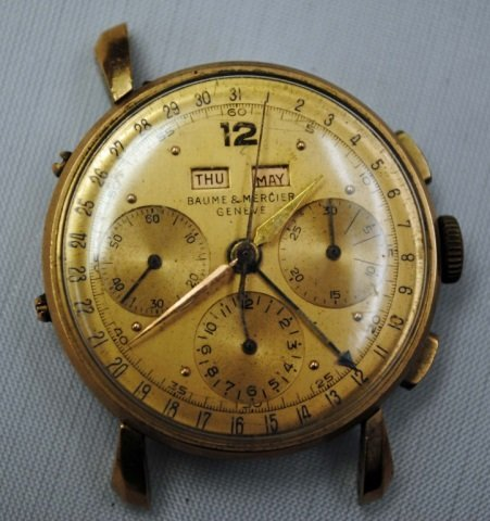 Vintage Men's Baume & Mercier 18K Gold Watch