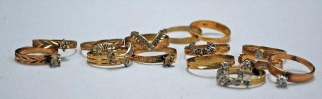 14 14K Gold Rings