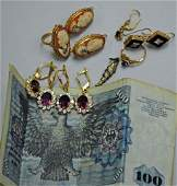 Assorted Gold and Costume Jewelry and 200 DM
