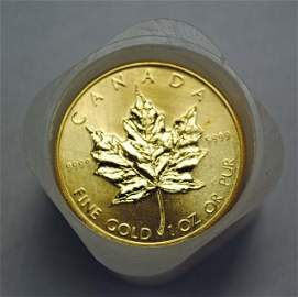 10 1983 Canadian $50 Gold Coins