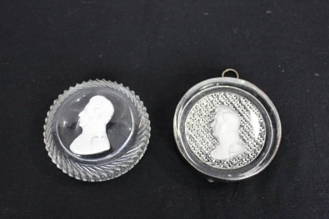 Two Antique Sulfide Miniatures