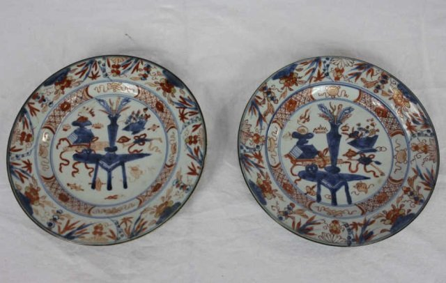 Pair of Antique Chinese Plates