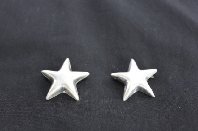 Pair of Tiffany & Co. Sterling Star Form Pins