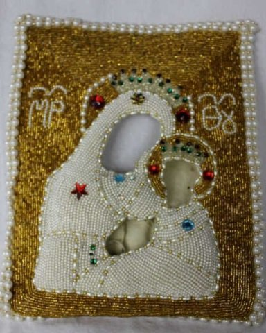 Pearl & Beaded Icon Cover