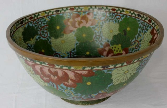 Large Chinese Cloisonne Bowl