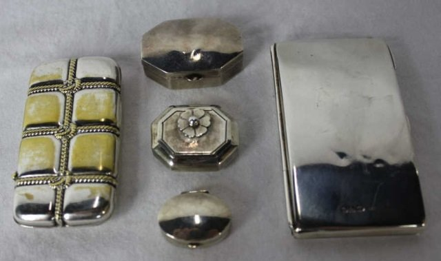 Five Assorted Silver Boxes