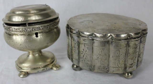 Two Austrian Silver Boxes - Tea Caddy