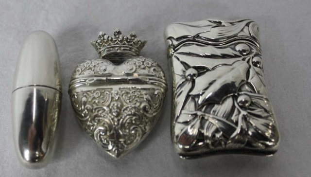 Three  Silver Boxes