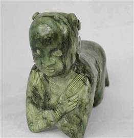 Jade Sculpture of Pillow Boy