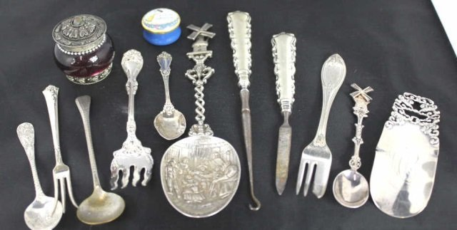 Collection of Sterling & Silver Articles