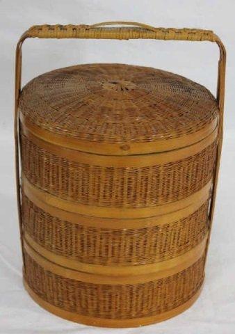 Japanese Stacking Lunch Basket Bento Box