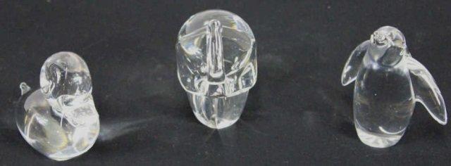 Rosenthal Elephant w/ Duck & Penguin Glass Animals