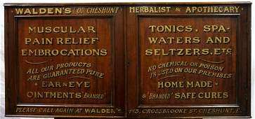 English Apothecary Pharmacy Advertising Cabinet